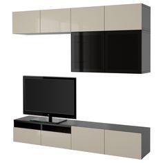 bestÅ, tv-möbel, kombination, schwarzbraun jetzt bestellen unter, Wohnzimmer