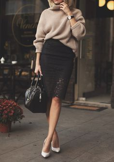 black lace skirt | postolatieva