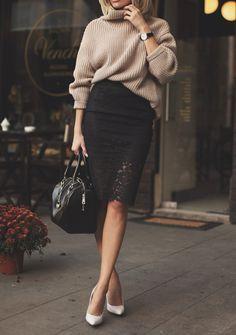 black lace skirt | postolatieva