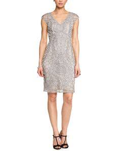 Spotted this Sue Wong Platinum Embellished Cap Sleeve Dress on Rue La La. Shop (quickly!).