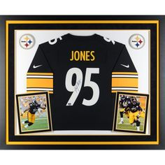 f82c07e3db9 Jarvis Jones Pittsburgh Steelers Fanatics Authentic Deluxe Framed  Autographed Nike Game Jersey