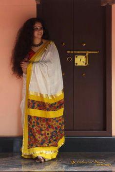 Kerala kalamkari saree                                                                                                                                                                                 More