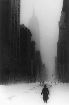old nyc in the snow