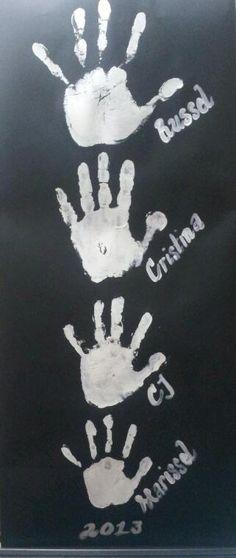 diy: Family hand prints | Mz MariCris