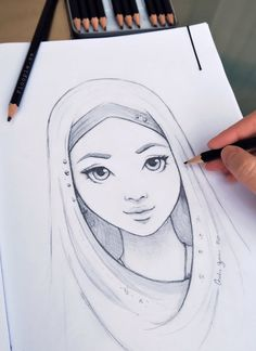 Excellent Drawing Faces With Graphite Pencils Ideas. Enchanting Drawing Faces with Graphite Pencils Ideas. Girl Drawing Sketches, Girly Drawings, Art Drawings Sketches Simple, Pencil Art Drawings, Cool Drawings, Drawing Faces, Drawing Drawing, Beautiful Drawings, Drawing Ideas