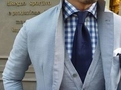 Blue and grey work well together