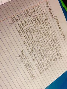 I've been told I had nice handwriting - Imgur