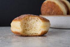Naturally Leavened Bomboloni (Doughnuts) | The Perfect Loaf Sourdough Doughnut Recipe, Sourdough Recipes, Stop Eating, Doughnuts, Baked Goods, Delish, Baking, Sweet, Desserts