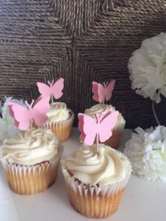 Butterfly Cupcake Toppers by PaperExpressShoppe on Etsy https://www.etsy.com/listing/262257990/butterfly-cupcake-toppers