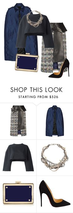 """""""Untitled #639"""" by srlangley ❤ liked on Polyvore featuring Alexander McQueen, Burberry, adidas Originals, Tom Binns, Valentino, Christian Louboutin, women's clothing, women, female and woman"""