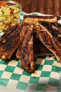 Michael shows you how to take a tough cut of meat and transform it into a Pork Spareribs with Grilled Corn Salad dish your whole family will love!