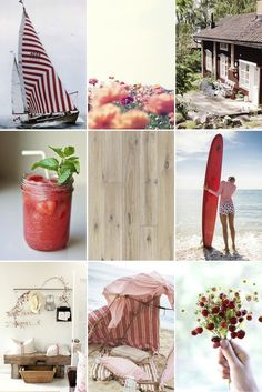 SUMMER RED   This summer, combine red and white hues with a whitewashed rustic oak floor such as Kährs Oak Oyster for that authentic Scandinavian beachside/summer house feel.