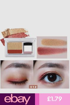 Eye Shadow Icycheer Makeup Magazine Lazy Eyeshadow Stamp Holiday Edition Eye Shadow Double Color Shimmer Palette Long Lasting Natual Nude