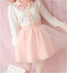 • cute kawaii pink pastel Korean fashion kfashion dresses Japanese Fashion jfashion pastel pink cfashion chinese fashion bobon21 edit:kawaii-ful kawaii-ful •