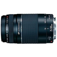 The Canon EF 75-300mm f/4-5.6 III USM telephoto zoom lens is a compact and lightweight 4x telephoto zoom lens ideal for shooting sports portraits and wildlife. The newly developed Micro USM makes au...