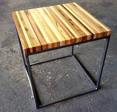 Steel-Base End Table, streetwood.com, furniture made from pallets