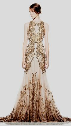 Gold Wedding Dress.