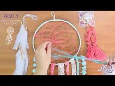Cómo hacer un atrapasueños, fácil, paso a paso | How to make a dreamcatcher - YouTube Doily Dream Catchers, Crochet Dreamcatcher, Tapestry Crochet, Crochet Videos, Sleep Dream, Diy For Kids, Diy And Crafts, Handmade, Dreamcatchers