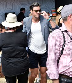 Watch out! Sam makes his way through the crowds at thePortsea Polo...