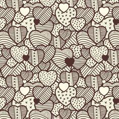 Hearts vintage pattern Free Vector