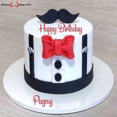 New birthday cake decorating for men fondant 33 ideas Baby Boy Birthday Cake, Birthday Cake For Husband, Birthday Name, Birthday Cakes For Men, Birthday Cupcakes, Husband Cake, Men Birthday, Birthday Message, Birthday Ideas