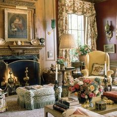 """64 Likes, 6 Comments - JPN Antiquities (@jpn_antiquities) on Instagram: """"Enjoy the beauty of this room-I love the roaring fire and especially the painting over the mantle…"""""""