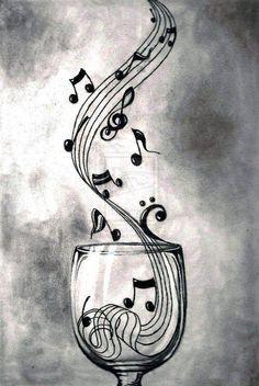 Elas brotam da imaginação ,após  uma taça de vinho, são as músicas, as notas musicais.