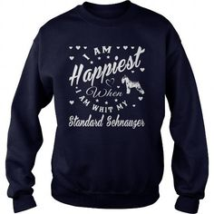 I AM HAPPIEST WHEN I AM WITH MY STANDARD SCHNAUZER CREW SWEATSHIRTS T-SHIRTS, HOODIES ( ==►►Click To Shopping Now) #i #am #happiest #when #i #am #with #my #standard #schnauzer #crew #sweatshirts #Dogfashion #Dogs #Dog #SunfrogTshirts #Sunfrogshirts #shirts #tshirt #hoodie #sweatshirt #fashion #style