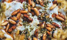 Yotam Ottolenghi's courgette 'baba ganoush' recipe: 'a delicate and delightful way to whet the appetite'. Photograph: Jonathan Lovekin for the Guardian