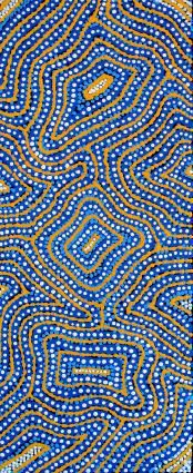 Ngapa Jukurrpa (Water Dreaming) - Pirlinyarnu by Terry Jakamarra Long Aboriginal Painting, Aboriginal Artists, Dot Painting, Encaustic Painting, Indigenous Australian Art, Indigenous Art, Aboriginal Art Australian, Australian Aboriginals, Aboriginal Culture