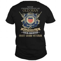 Cool Old Man  Coast Guard Veteran T-Shirts