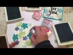 How to stamp on Botanical Gardens Vellum - YouTube