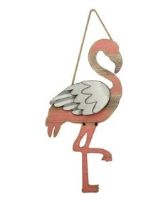 This Pink Flamingo Wall Art is perfect! #zulilyfinds