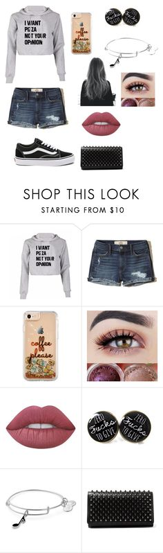 """Summer Bonfire"" by breahhnah ❤ liked on Polyvore featuring Hollister Co., Lime Crime, Alex and Ani, Christian Louboutin and Vans"