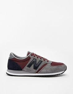 New Balance | New Balance 420 Suede/Mesh Gray and Burgundy Sneakers