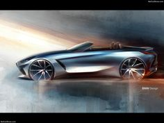 Der Roadster reloaded: Weltpremiere des neuen BMW in Pebble Beach Bmw Design, Car Design Sketch, Car Sketch, Bmw Z4 Roadster, Top Sports Cars, Bmw Concept, Bmw Series, New Bmw, Pebble Beach