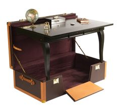 A secretary in a case. Not sure I need one this elegant, but I am totally going to build one for LARP. A desk on the go just seems way too useful to ignore.