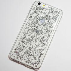 Silver Gold Flakes iPhone 6 Plus / 6S Plus Soft Case