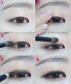Monolid Smokey Eye Makeup Tutorial   www.sokoglam.com #smokeyeye #makeuptutorial #monolid #koreanactress #korean
