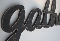 Gather Wooden Word by ALittleMiscellany on Etsy