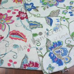 Free Shipping,Beautiful Flowers Printing Linen Cotton Fabric Items for patchwork, textiles and fabrics