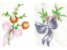Linen Bows Machine Embroidery Designs http://www.designsbysick.com/details/linenbows