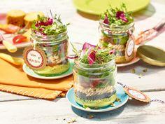 Cremiger Curry-Nudel-Linsen-Salat im Glas