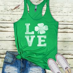 Love Shamrock - The cutest St. Patricks Day shirt for women! | Material + Care Preshrunk Tri-Blend Material Machine wash cold // dry on lowest heat or hang dry - Light, airy fabric, super comfortable fit | Shipping + Processing Please see shipping section in listing for accurate