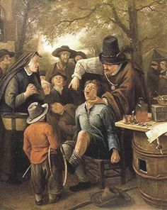 "The Tooth-Puller (or ""The Quack Doctor"") - Jan Steen. Oil on canvas. 33 x 27 cm. Royal Picture Gallery, Mauritshuis, The Hague, Netherlands. The Vicar Of Wakefield, Tableaux Vivants, Dutch Golden Age, Baroque Art, Classic Paintings, Dutch Painters, Types Of Painting, Dutch Artists, Art Database"