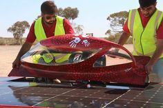 2015 Western Sydney University Solar car with original art by Aboriginal artist Darren Dunn. Solar Car, Aboriginal Artists, Outdoor Furniture, Outdoor Decor, Sydney, University, The Originals, Backyard Furniture, Community College