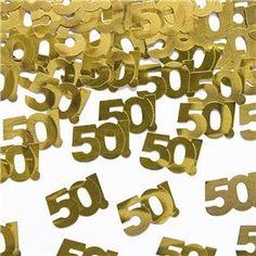 Confetti número 50 Dorado