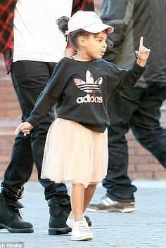 Blue Ivy Carter wearing Adidas Stan Smith Leather Sneakers