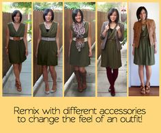 dress up or dress down, make it work in the summer or the winter, make it preppy or boho, and so on.