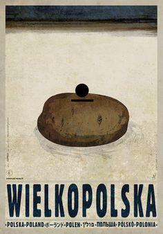 Wielkopolska Pyrlandia - Potato Land Check also other posters from PLAKAT-POLSKA series Original Polish poster designer: Ryszard Kaja year: 2013 size: Saul Bass, Polish Movie Posters, Pop Art, Cool Posters, Modern Posters, New Poster, Vintage Travel Posters, Illustrations And Posters, Graphic Illustration